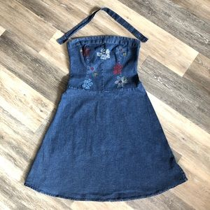 Denim Halter/Strapless Dress